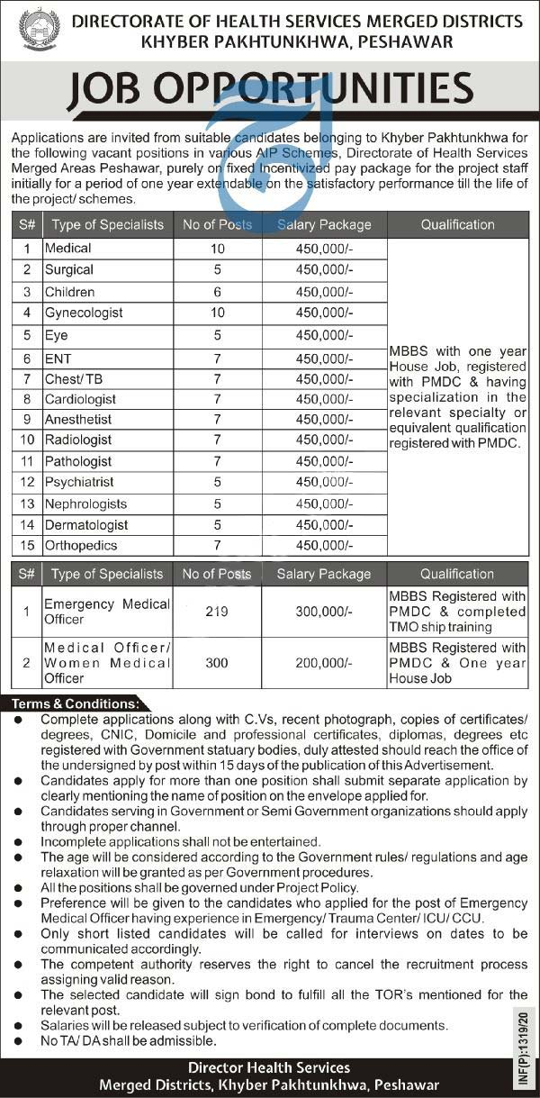 Health Department Jobs 2020 In Merged District Kpk Latest