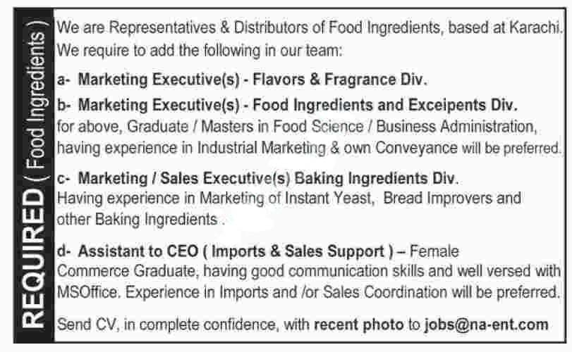 Na Enterprises Marketing Staff Rawalpindi Jobs 2020 Latest