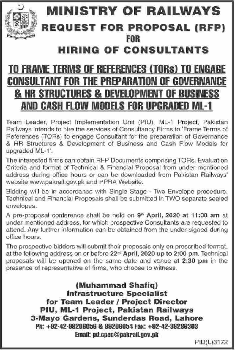 Pakistan Railways Lahore Jobs 2020 Latest