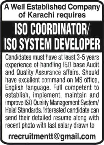 Well Extablished Company Karachi Jobs 2020 Latest