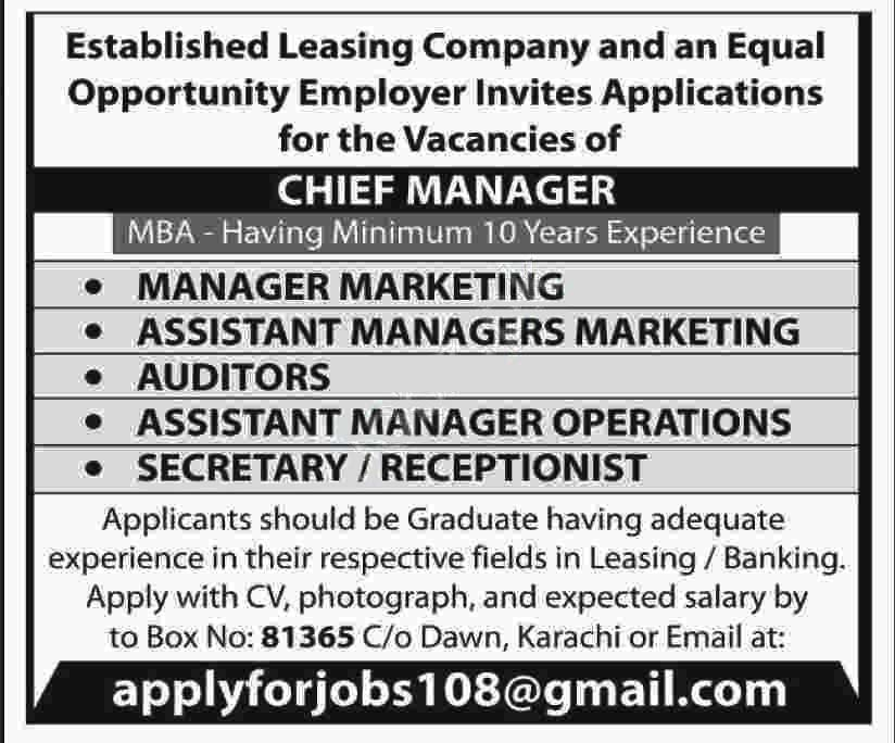 Establishe Leasing Company Jobs 2020