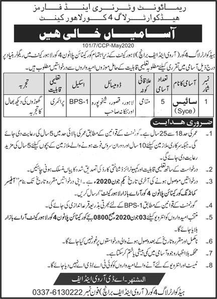 Jobs In Remount Veterinary & Farms Headquarter Log 4 Corps 2020 Latest
