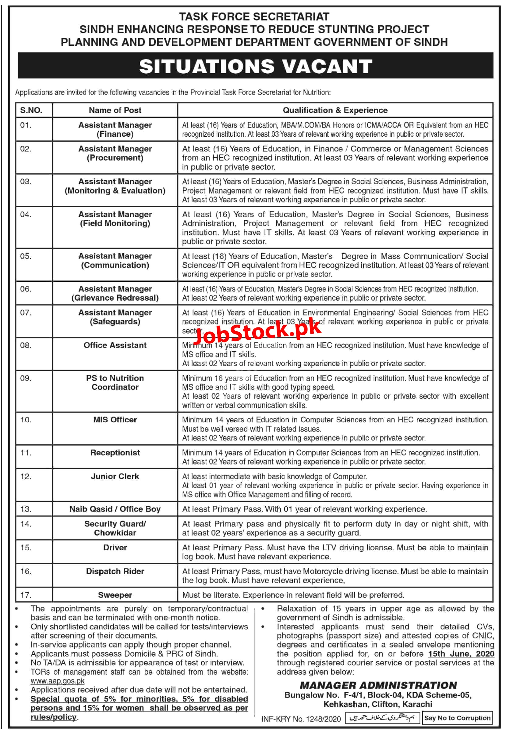 Jobs In Task Force Secretariat 2020 Planning And Development Department Latest
