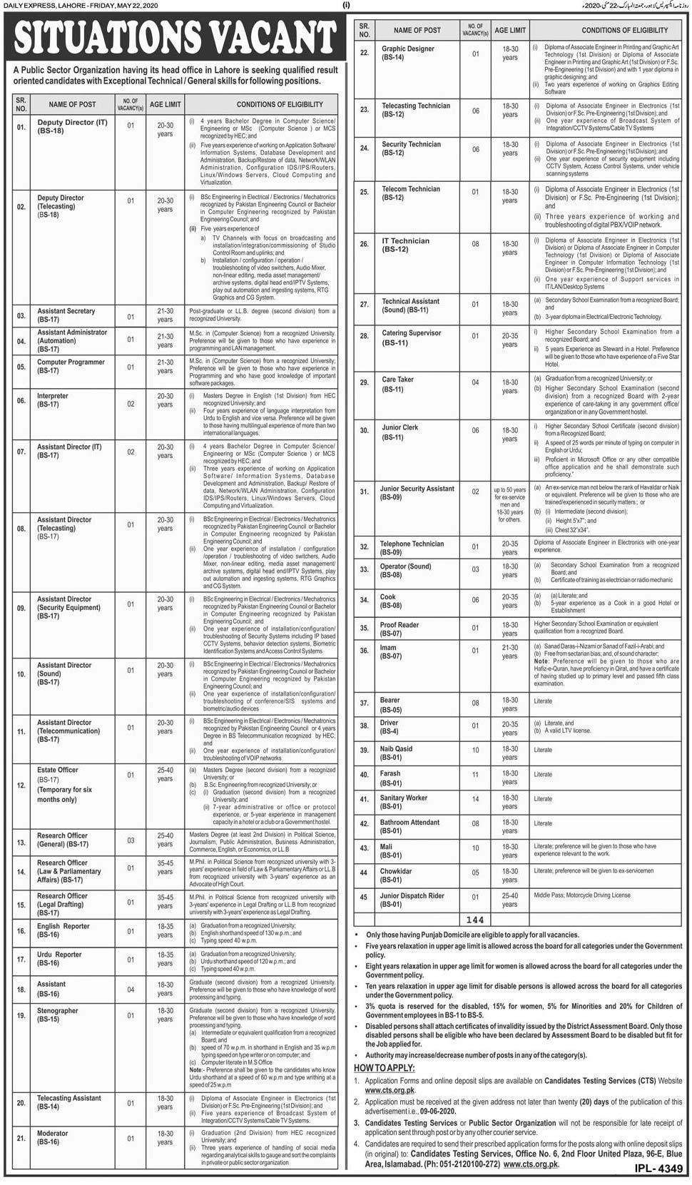 Public Sector Organization Jobs 2020 Latest