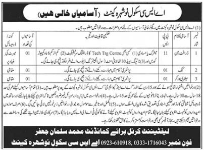 Asc School Nowshera Cantt Jobs 2020 Army Service Corps Latest