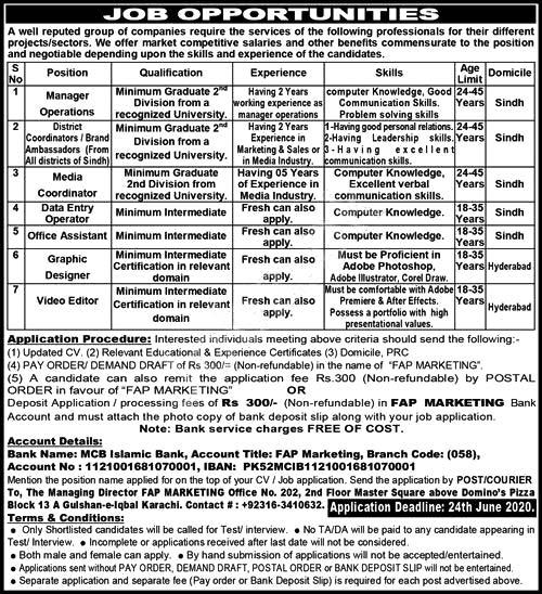 Fap Marketing A Leading Group Of Companies Karachi Jobs 2020 Latest