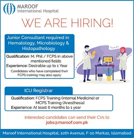Maroof International Hospital Islamabad Jobs 2020 Latest