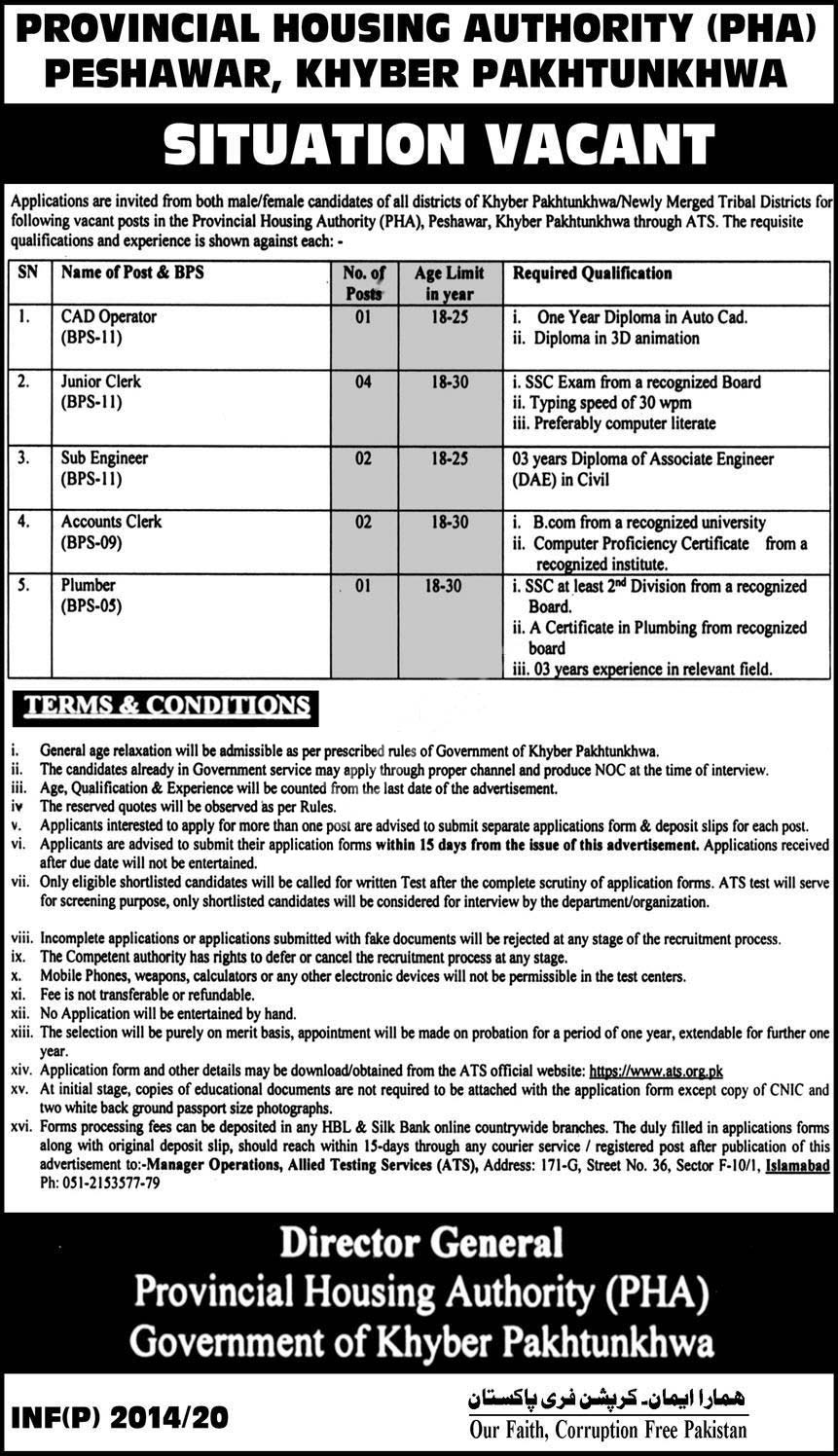 Provincial Housing Authority Pha Jobs 2020 Latest