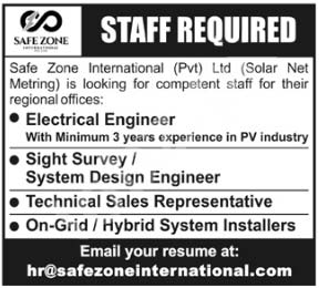 Safe Zone International Peshawar Jobs 2020 Latest