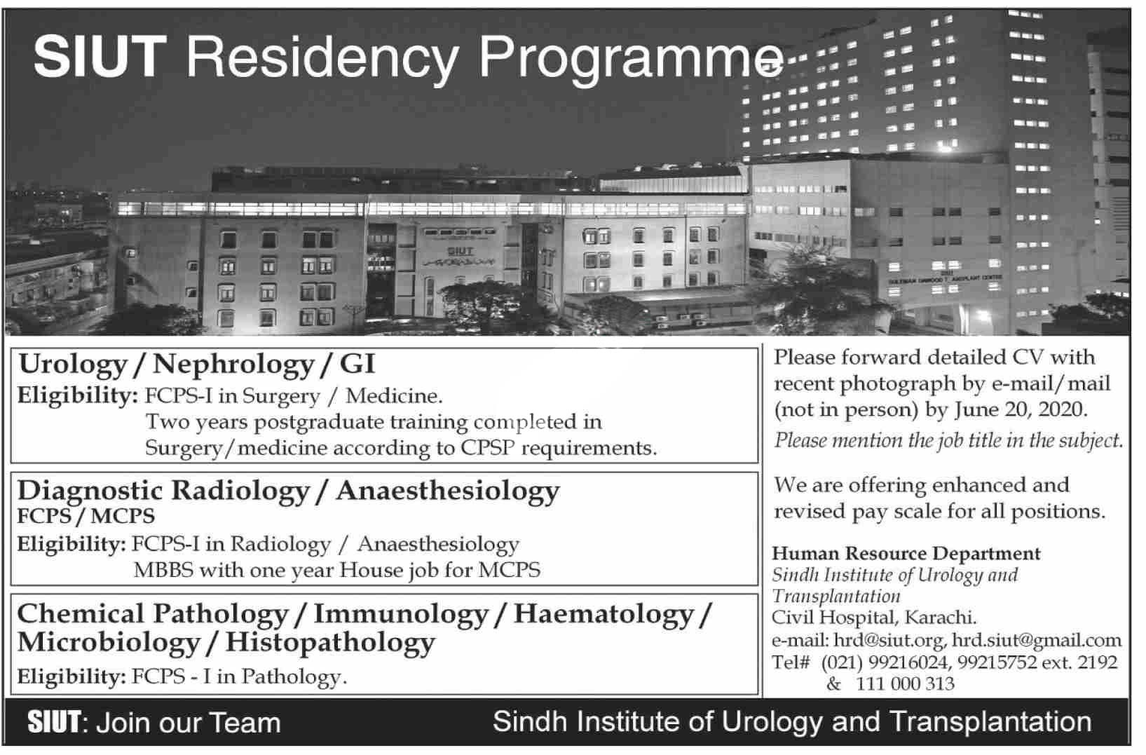 Sindh Institute Of Urology And Transplantation Siut Karachi Jobs 2020 Latest