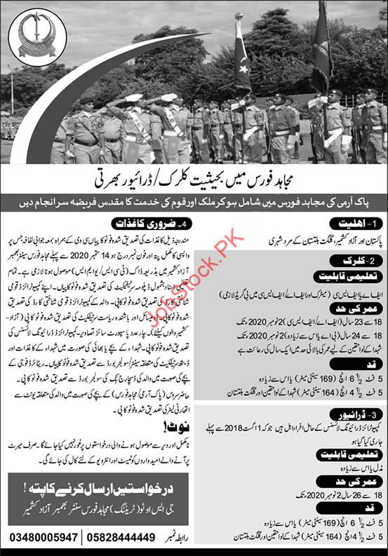 Mujahid Force Jobs In Pakistan Army 2020 Latest
