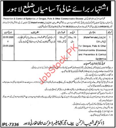 Sanitary Petrol Jobs In District Health Authority 2020 Latest