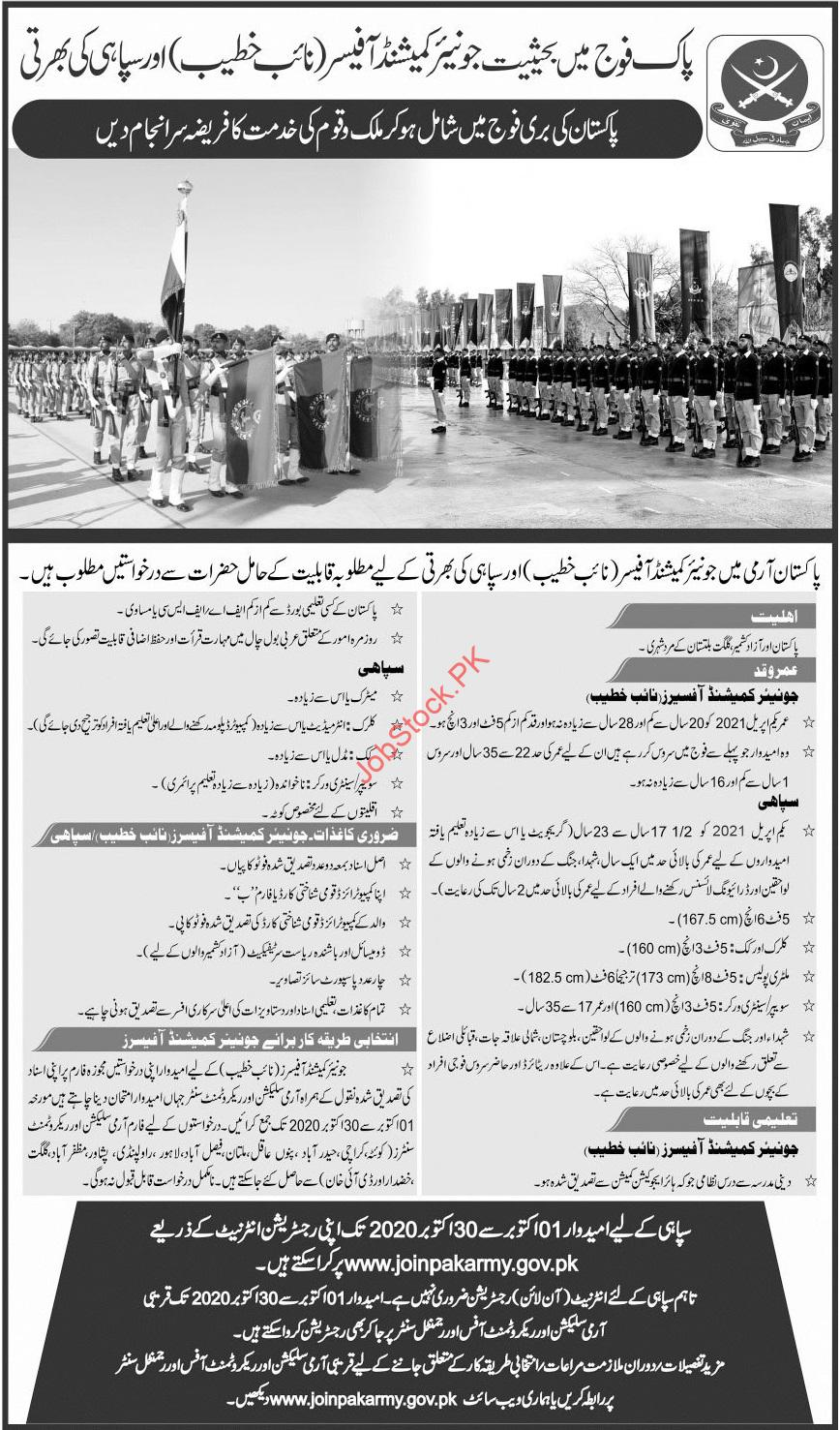 Join Pakistan Army As Commission Officer And Solders Jobs 2020