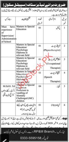 Ladies Staff Jobs In Special School Asc School Nowshera Cantt Jobs 2020