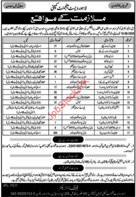 Lahore Waste Management Company Lahore Jobs 2020