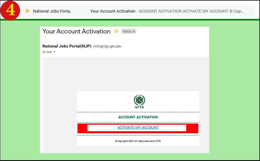 Step 4 Register Your Account Njp National Jobs Portal