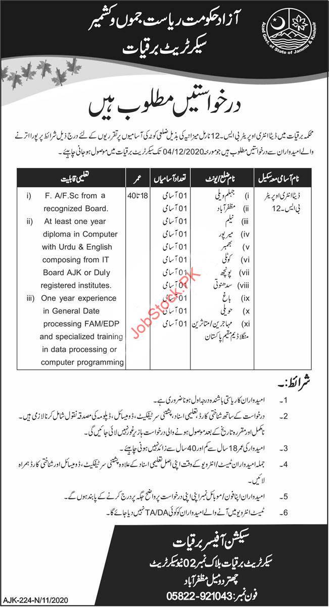 Electricity Department Muzaffarabad Ajk Jobs 2020
