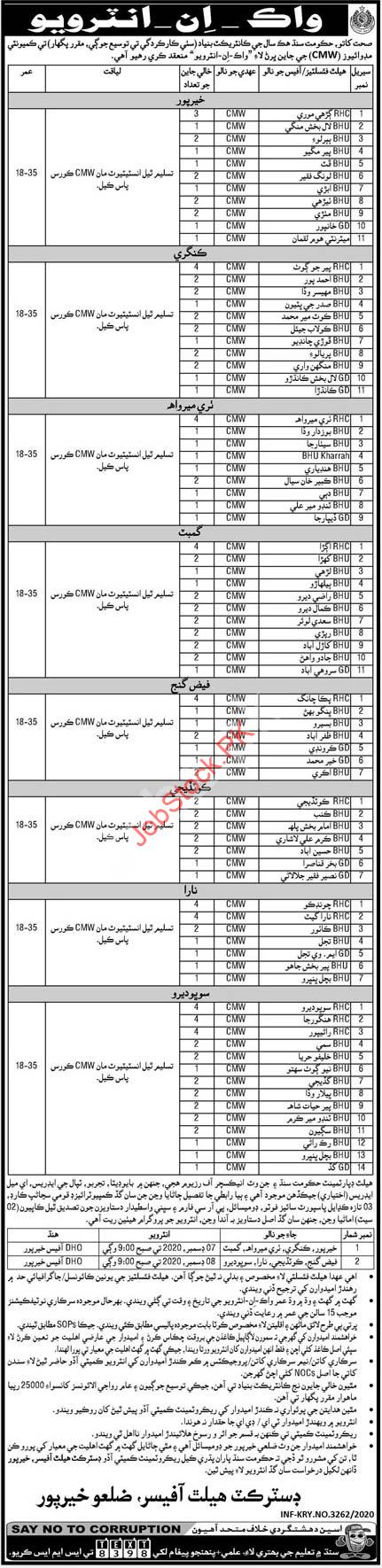 Health Department Khairpur Jobs 2020 (3)