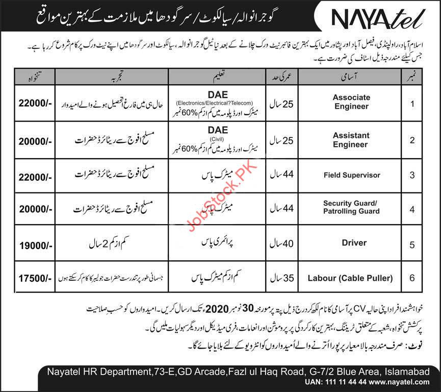Nayatel Private Limited Jobs 2020 November Latest Technical Staff