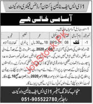 Pakistan Ordnance Factories Pof Wah Cantt Jobs 2020