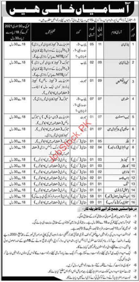 Central Ordnance Depot Cod Karachi Jobs 2020