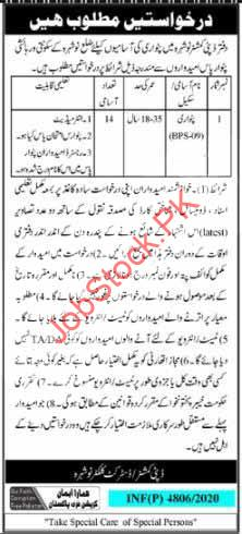 Patwari Jobs In Deputy Commissioner Dc Nowshera Irrigation Department 2021