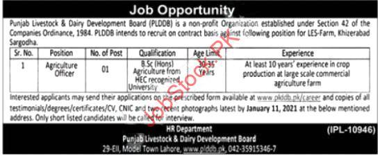 Punjab Livestock & Dairy Development Board Jobs 2021