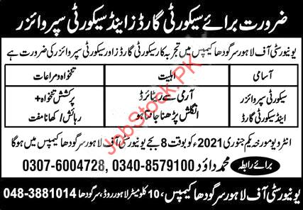 University Of Lahore Uol Sargodha Campus Jobs 2021