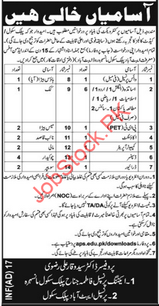 Abbottaqbad Public School Jobs 2021 Latest Teaching & Non Teaching Staff