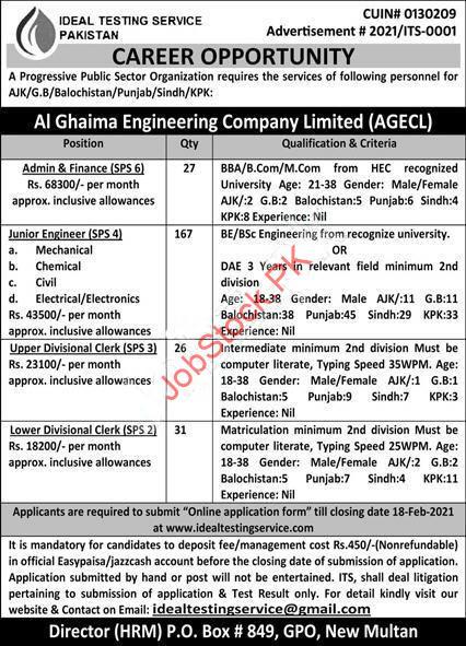 Al Ghaima Engineering Company Limited Jobs 2021