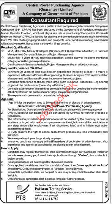 Consultant Jobs In Central Power Purchasing Agency Cppa 2021