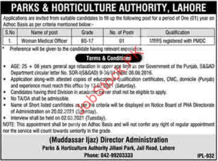 Female Medical Officer Jobs In Lahore 2021