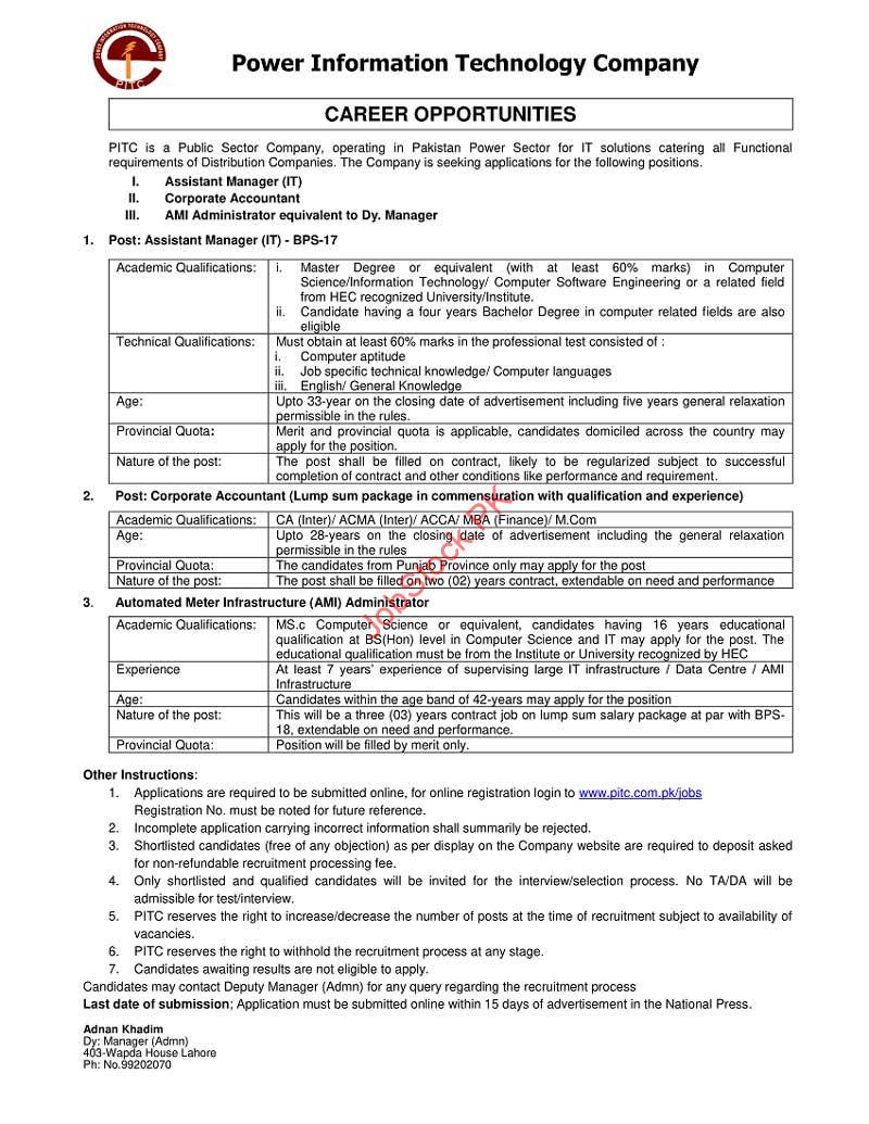 Latest Wapda House Jobs Lahore February 2021