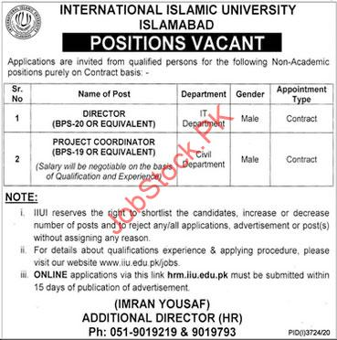 Officers Jobs In International Islamic University Islamabad Iiui