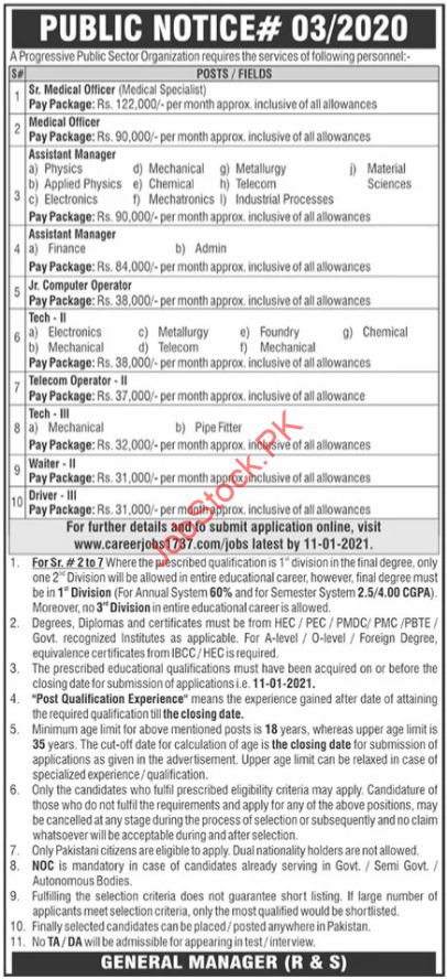 Paec Islamabad Jobs 2021 Latest