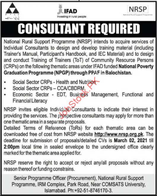 Consultant Jobs In Islamabad Latest 2021 Job