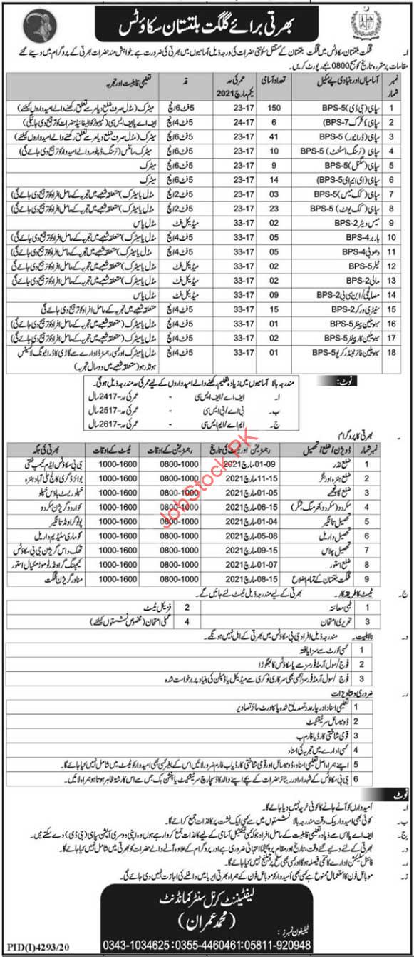 Government Jobs In Gilgit Baltistan 2021 February March