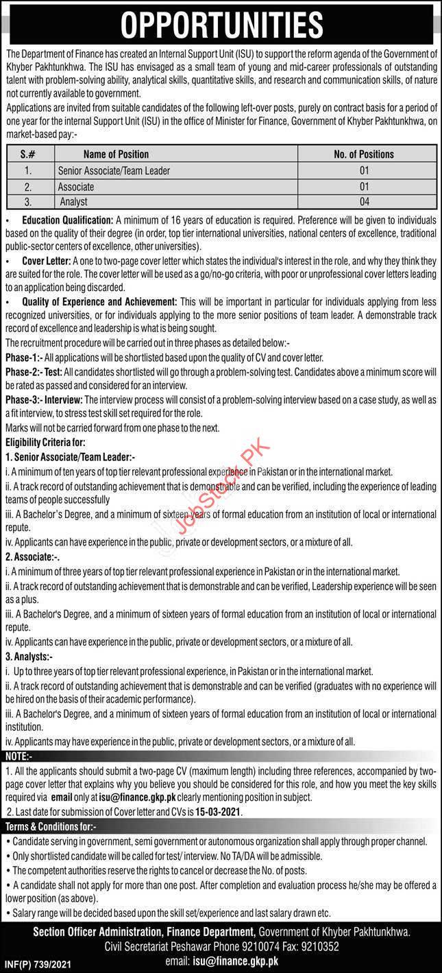 Internal Support Unit Kpk Jobs 2021