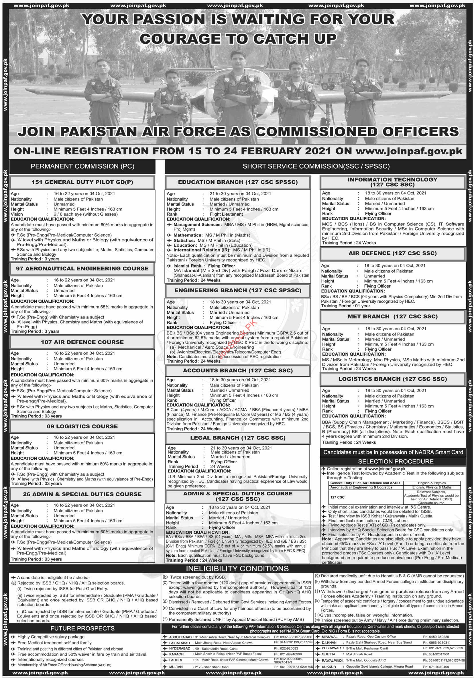 Join Pakistan Air Force As Commissioned Paf Jobs 2021 Latest Apply Online
