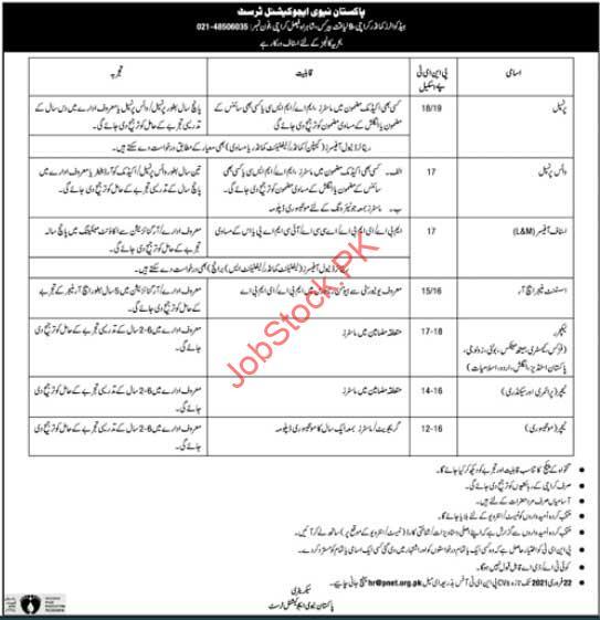 Pakistan Navy Educational Trust Jobs 2021