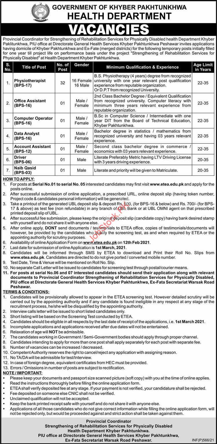Physiotherapist Jobs In Peshawar Latest 2021 Jobs