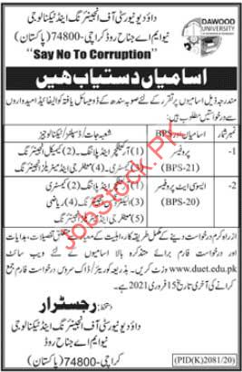 Professor Jobs In Karachi Today Newspaper Jobs In Urdu Ad