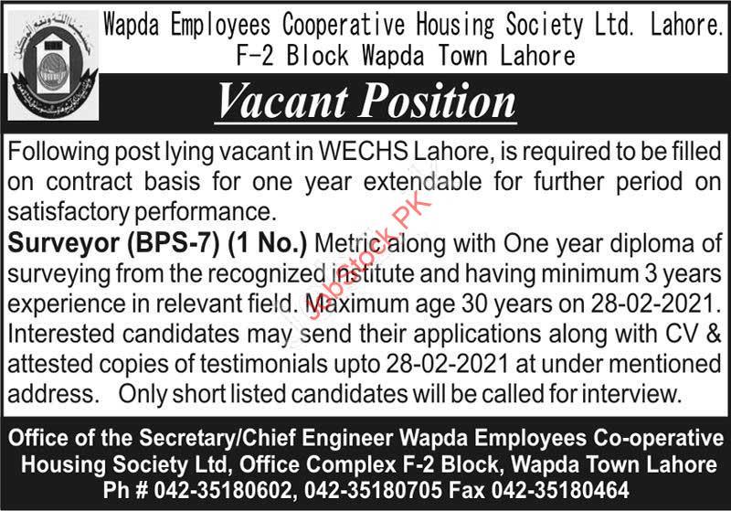 Surveyor Jobs In Lahore 2021