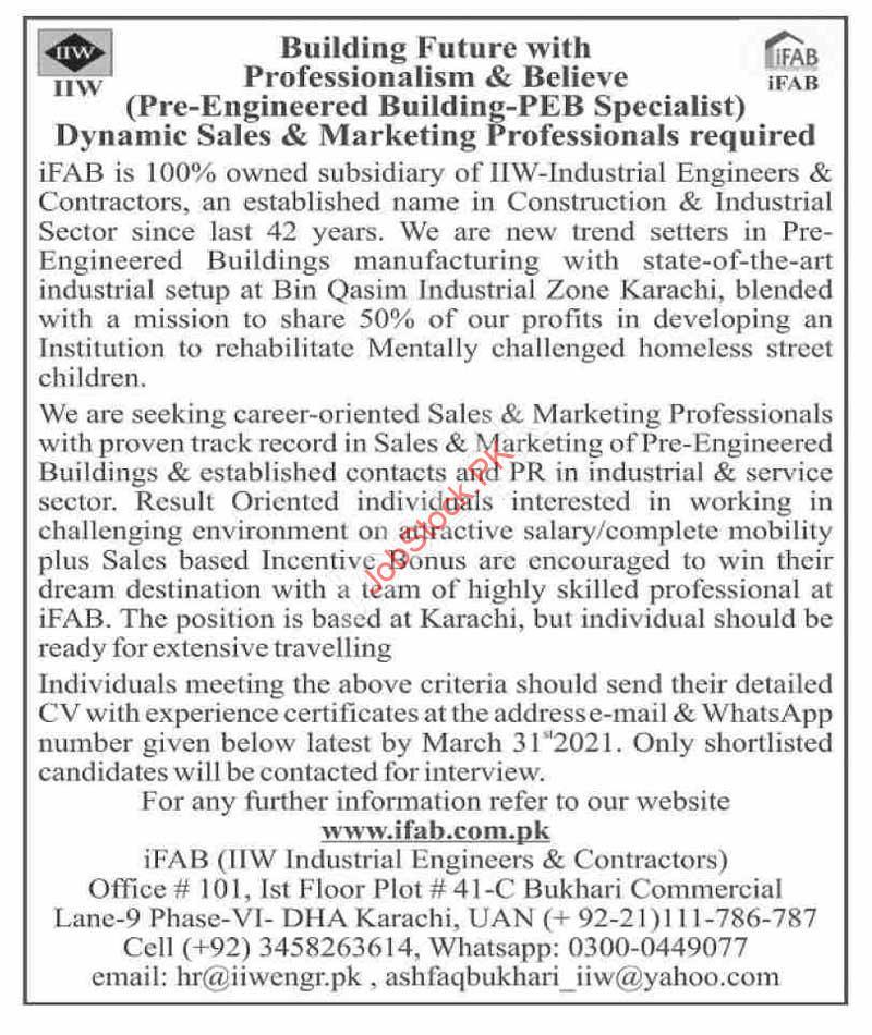 Engineering Jobs In Karachi 2021 Pre Engineered Building Peb Specialist