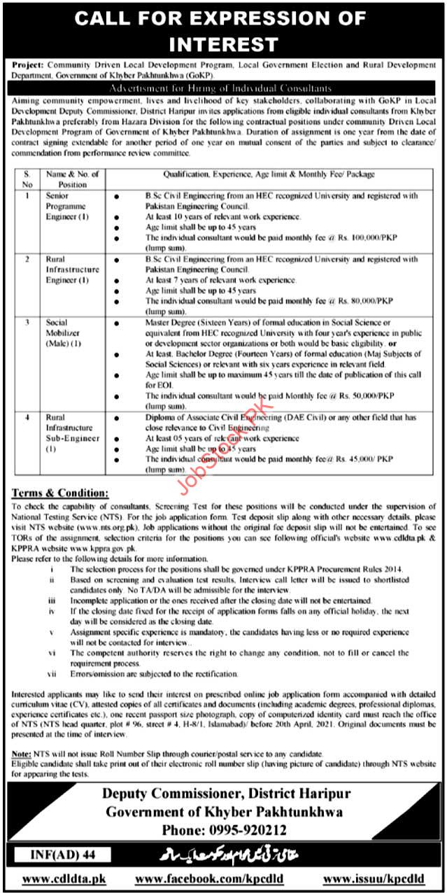 Government Jobs In Haripur Kpk Latest Today Jobs