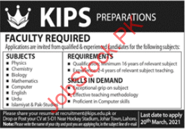 Kips Education System Lahore Jobs 2021