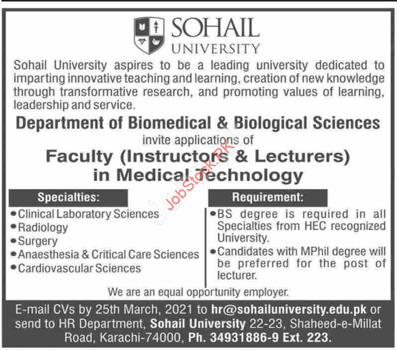 Lecturer Jobs In Karachi University 2021 Instructor Jobs