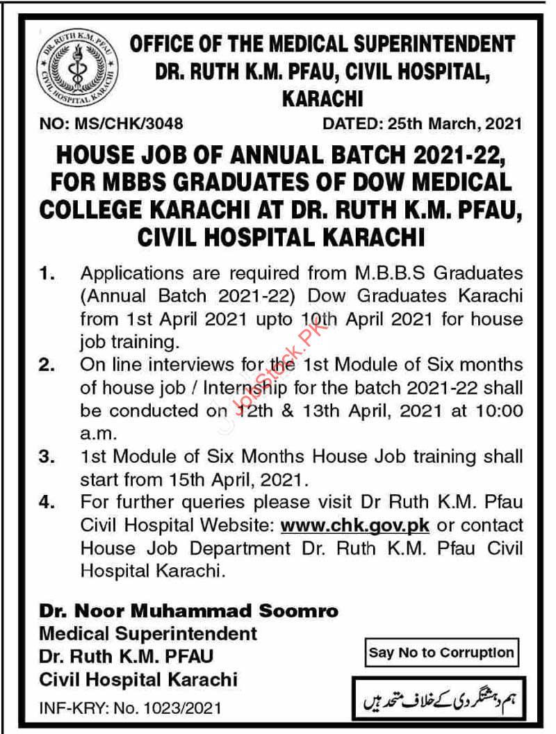 Medical Officer Jobs In Karachi 2021