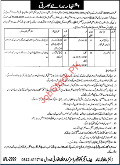 District Health Authority Dha Narowal Jobs 2021
