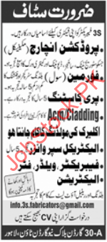 Factory Workers Lahore Jobs 2021